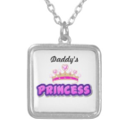 daddys princess necklace silver
