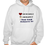 God can achieve white hooded sweatshirt
