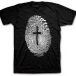 Jesus Left his Mark - Fingerprint Christian Shirt