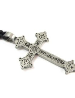 Ahenny-Cross-Pewter-Pendant-with-Adjustable-Cord-Necklace-0