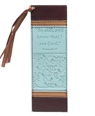 Be-Still-Faux-Leather-Pagemarker-Bookmark-Psalm-4610-0