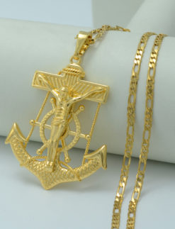 Big-Jesus-and-Anchor-Necklaces-for-Men-Women-22k-Gold-Plated-God-Bless-Pendant-Necklace-Cross-1