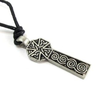 Cardinham-Cross-Pewter-Pendant-with-Adjustable-Cord-Necklace-0