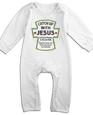 Catch-Up-With-Jesus-Christian-Baby-Onesie-Romper-Jumpsuit-Bodysuits-0