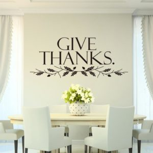 Give thanks decor sticker