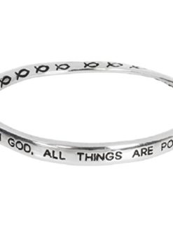 Heirloom-Finds-Silver-Tone-With-God-All-Things-are-Possible-Twist-Bangle-Bracelet-0