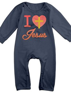 I-Love-Jesus-Girls-Cotton-Rompers-Sets-Navy-0
