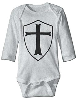 Infant-Baby-Toddler-TEMPLAR-SHIELD-Christian-Knight-Onesie-Bodysuit-3-Colors-0