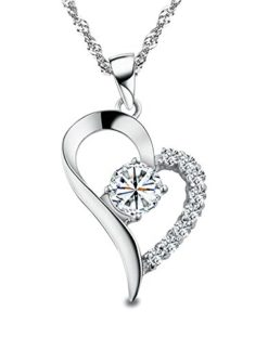 J-Christian-Collection-Diamond-Heart-Necklace-Pendant-Sterling-Silver-0