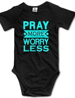 Pray-More-Worry-Less-Christian-Baby-Onesie-Newborn-Clothes-Outfits-Unisex-0