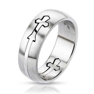 STR-0145-7mm-Stainless-Steel-Dome-Cut-Out-Cross-Band-Ring-0