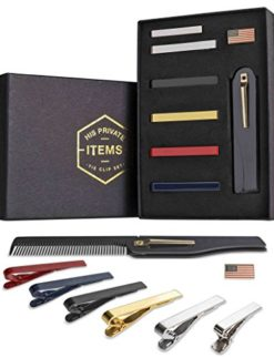 Tie-Bar-Clip-Set-for-Men-6-Pc-Pinch-Hold-Skinny-Regular-Ties-Gift-Box-0