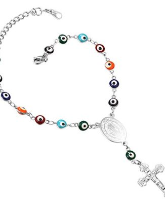 U7-Turkish-Evil-Eye-Bracelet-Stainless-Steel18K-Gold-Plated-Chain-St-Benedict-Medal-and-Crucifix-Cross-Rosary-Bracelet-0