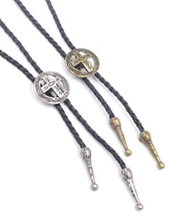 We-buys-Vintage-Cross-Bolo-Tie-Christian-Bola-Necktie-Leather-Necklace-1-PC-0