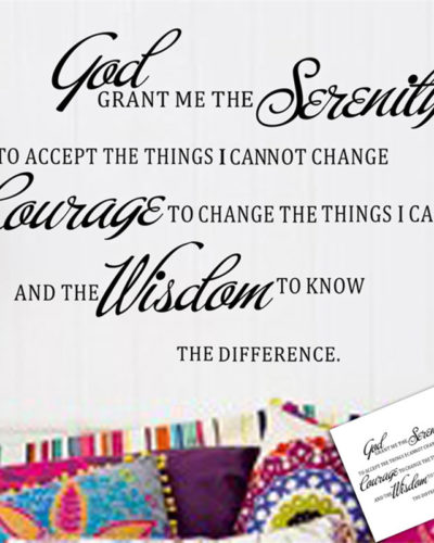 GOD GRANT ME THE SERENITY PRAYER BIBLE  Quote Wall Stickers